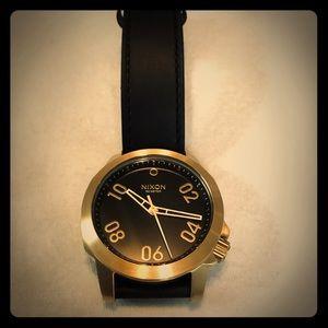 Men's Nixon Ranger 40 Leather Watch